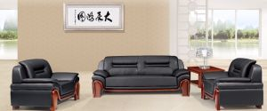 Italy Design Classic Wooden Office Furniture Leather Office Sofa (NS-E209) pictures & photos