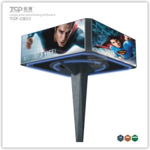 Outdoor Large Pole Four Sided Light Box, Trivision Advertising Billboard pictures & photos