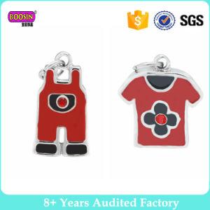 Custom Printed Acrylic Charms Enamel Red T- Shirt Bib Short Set Charm pictures & photos