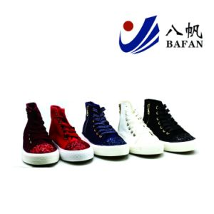Shiny Paillette Canvas Shoes Women Shoes Shoes Bf1701622 pictures & photos