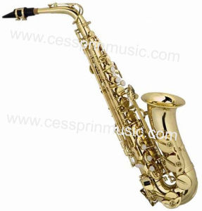 Hot Sell/Alto Saxophone /Gold Lacquer Saxophone / Woodwinds /Cessprin Music (CPAS001) pictures & photos