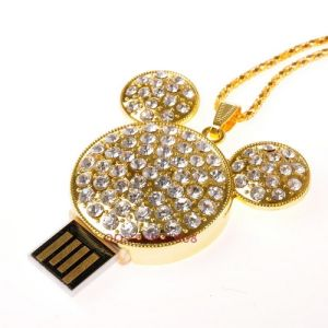 Jewelry USB Flash Drive Diamond Mickey Pendrive Flash Disk Necklace pictures & photos