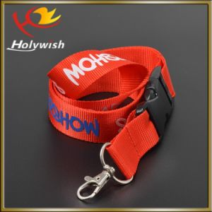 Factory Supply Neck Keychain Nylon Lanyard with Screen Printed pictures & photos