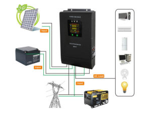 1000W Hybrid off-Grid Solar Inverter with MPPT Controller pictures & photos