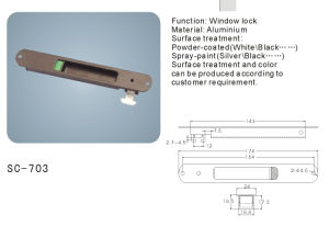 Aluminium Sliding Window Lock (SC-703) pictures & photos