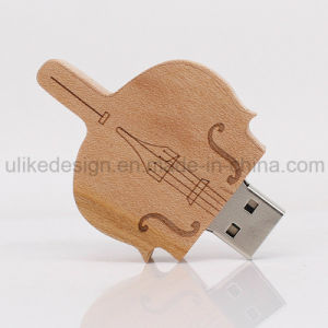 Guitar Shape Wooden USB Flash Drive (UL-W016) pictures & photos
