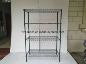 Epoxy Coated Green Steel Restaurant Industrial Dish Drying Rack Supplier pictures & photos