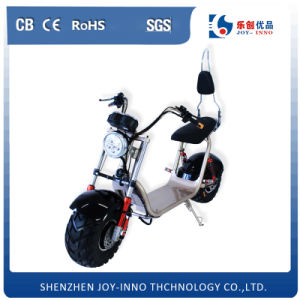 Lithium Battery 60V Powerful Harley Scooter Fat Tire Two Big Wheels Electric Motorcycle pictures & photos