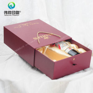 Hot-Stamping Paper Wine Packaging Box Printing with Ropes pictures & photos