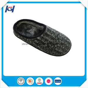 Check Fabric Daily Use Foot Warmers Chinese Mule Slippers pictures & photos