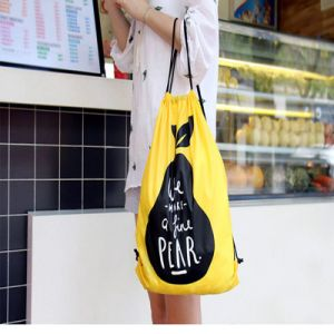 Cheap Customized Colorful Printed Polyester Gym Drawstring Bag pictures & photos