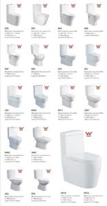 Contemporary Watermark Two-Piece Washdown Floor Standing Toilet Suite (3882) pictures & photos
