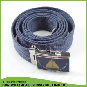 Factory Custom Cotton Webbing Canvas Belt with Metal Buckle pictures & photos