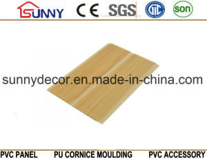 One Groove Wooden Color PVC Ceiling Panels, Plastic Wall Panel, Cielo Raso De PVC pictures & photos