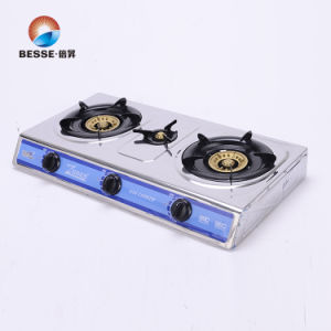 Stainless Steel Three Burners Gas Stove, Blue Fire pictures & photos