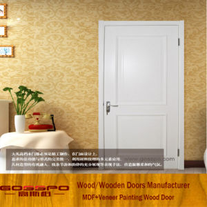 Simple Design White Paint MDF Inter Room Doors (GSP8-034) pictures & photos
