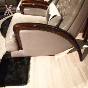 Grey Modern Fashion Leather Sofa (1681A+JM81) pictures & photos