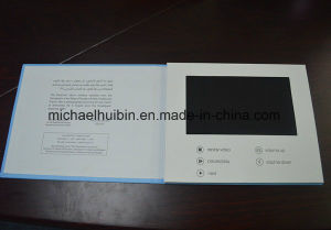 OEM Production 7inch LCD Video Greeting Brochure Invitation Card (VC-070) pictures & photos