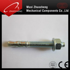 Carbon Steel Yellow Zinc Plated Wedge Anchor Bolt Through Bolt pictures & photos