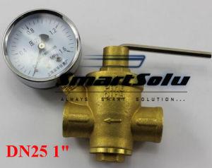 "Dn25 1"" Water Pressure Regulator Valves with Pressure Gauge pictures & photos"