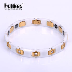Good Quality Men Stainless Steel Bracelet with Ceramic and Hematite pictures & photos