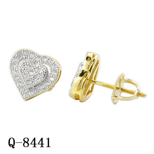New Arrival Hip Hop Jewelry Silver Heart Earrings pictures & photos