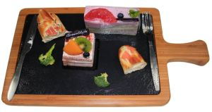 Slate Plate/Tableware with Wooden Serving Board
