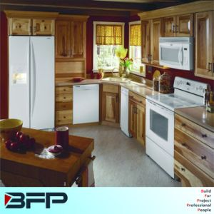 Low Price Nature Raw Wood Kitchen Cabinet pictures & photos