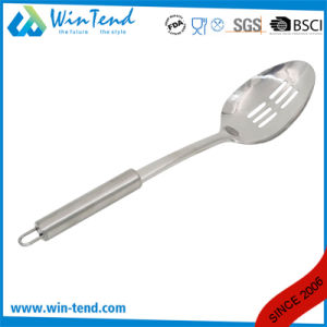 Wholesale Stainless Steel Kitchen Slotted Spoon with Hook pictures & photos