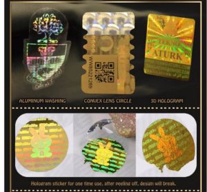 Custom Round Hologram Void Stickers pictures & photos