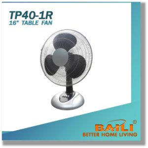 "16"" Desk Fan with Silver Painted Decoration Part pictures & photos"