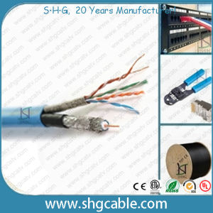 Combo LAN Cable and Coaxial Cable (RG6Quad+CAT5 UTP) (CAT5 UTP+RG6Q) pictures & photos