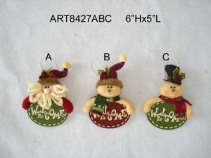 Christmas Santa, Snowman Head Christmas Decoration Ornament, 3asst pictures & photos