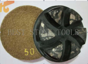 Metal Diamond Polishing Pad with Velcro