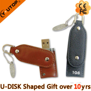 Swivel/Rotating Leather USB Flash Memory for Gift (YT-5105) pictures & photos