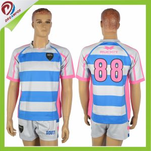 Custom Rugby Jersey Wholesale Rugby Uniform Team Sets pictures & photos