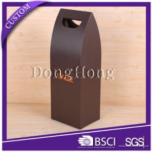 Matte Black Cardboard Wine Bottle Packaging Box pictures & photos