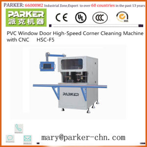 CNC Corner Cleaning Machine UPVC Window Corner Cleaning pictures & photos