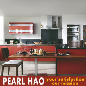 High Gloss MDF Red Lacquer Wooden Kitchen Furniture pictures & photos