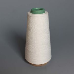 100% Recycle Raw White Polyester Yarn for Weaving pictures & photos