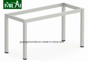 Reasonable Price Small Office Triangular Meeting Table with Steel Leg pictures & photos