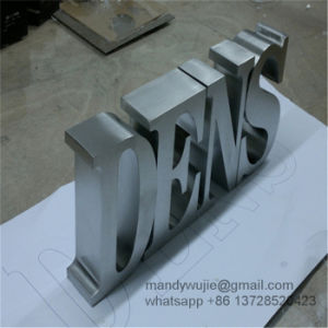 Brushed Stainless Steel Lobby Sign Letters pictures & photos