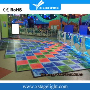 60 PCS 5050 SMD Light IP55 RGB 3in1 Liquid Interactive LED Dance Floor pictures & photos