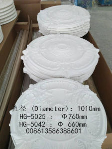 White PU Ceiling Medallions/PU Ceiling Tiles/ Home & Interior Decoration From China pictures & photos