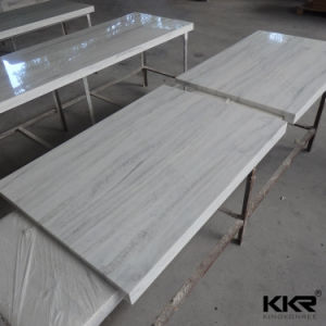 Kkr Solid Surface Bathroom Vanity Top for Hotel Project (C171011) pictures & photos