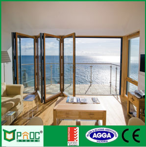New Design Aluminium Glass Folding Door with Toughened Glass pictures & photos