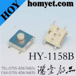 6*6mm Tact Switch with Positioning Pin (HY-1158B) pictures & photos