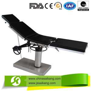High Quality Stainless Stee Manual Operating Table pictures & photos