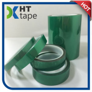 Green Polyester Silicone Adhesive Tape pictures & photos