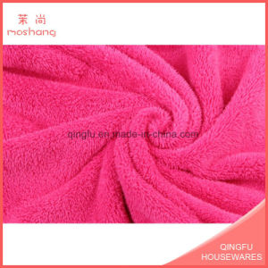 Microfiber Coral Velvet Fleece Plush Bath Towels pictures & photos